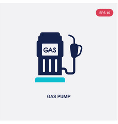 two color gas pump icon from general concept vector image