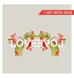 Vintage Floral Graphic Design for T-shirt Fashion vector