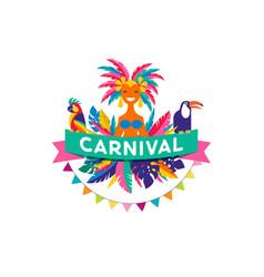 brazilian carnival poster vector image vector image