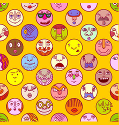 colorful face avatar expression icons vector image