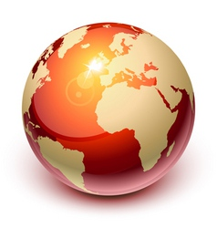 red earth vector image
