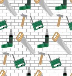 Seamless pattern with tools for construction vector image