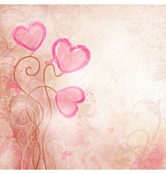 valentines heart flower vector image vector image