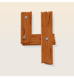 wooden type 4 vector image