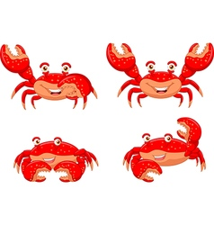 Cartoon crab collection set isolated vector image