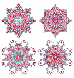 Colorful mandalas in oriental style vector