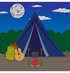 night camping vector image vector image