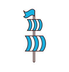 sailing boat isolated icon vector image vector image