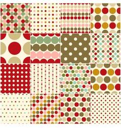 seamless christmas polka dots pattern vector image