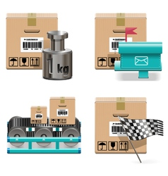 Shipment Icons Set 17 vector image vector image