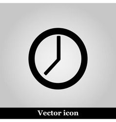 clock icon on grey background vector image vector image