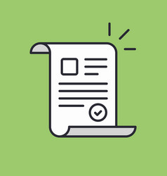 document approved icon suitable for info graphics vector image vector image