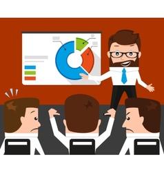 Lucky businessman failed presentation for his vector image vector image