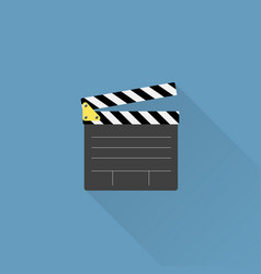 Movie clapper board icon vector