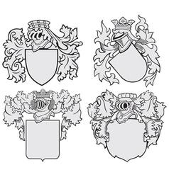 set of aristocratic emblems No10 vector image