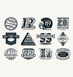 set of emblems in sport style vector image vector image