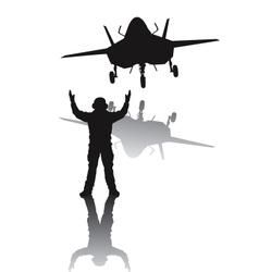 Stealth aircraft silhouette vector image