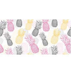 yellow grey pink pineapple polka dot summer vector image