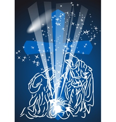 Christmas comet vector image