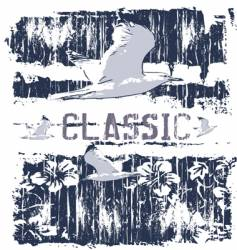classic gull vector image vector image