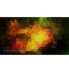 Colorful triangle geometric background vector image vector image