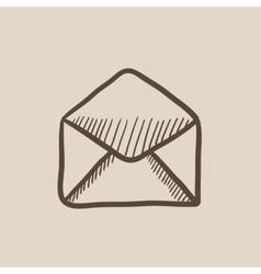 Envelope sketch icon vector image vector image