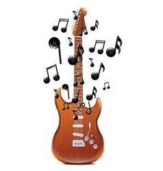 Guitar With Melody2 vector image vector image