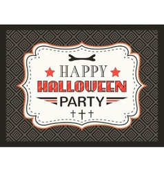 Happy halloween party card typography letters font vector