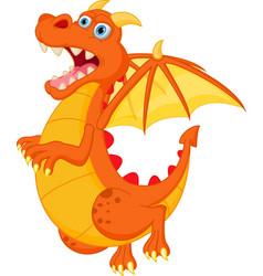 happy red dragon cartoon vector image vector image