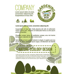 poster for nature landscaping company vector image vector image