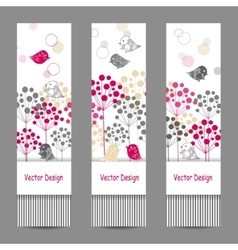 Set of vertical banners vector image vector image