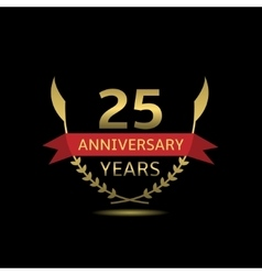 25 Anniversary years vector image