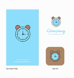 alarm company logo app icon and splash page vector image