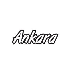 Ankara europe capital text logo black white icon vector