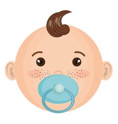 baby face happy vector image