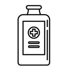 Bacough syrup icon outline style vector