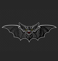 bat logo icon design vector image