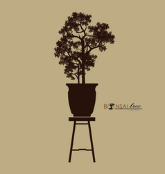 Bonsai tree japanese and chinese treesvintage vector