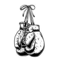 boxing gloves on white background design element vector image