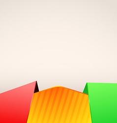 Bright folder red green border layout vector image
