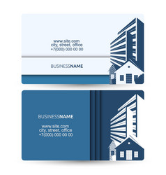 Business card sale houses and building vector