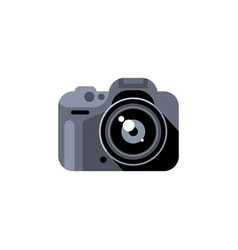 camera in realistic flat style vector image