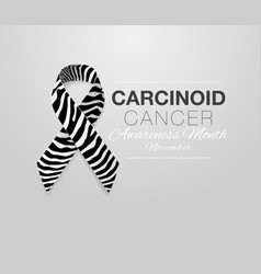 Carcinoid cancer awareness calligraphy poster vector