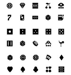Casino and Gambling Icons 1 vector image