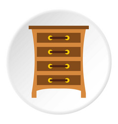 Chest of drawers icon circle vector