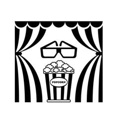 cinema theatre popcorn vector image