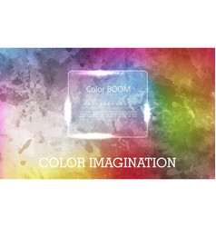 colorful watercolor hand drawn paper texture torn vector image