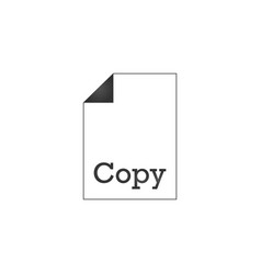 document icon with copy sign on it dublicate vector image