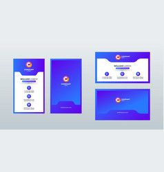 Double sided modern business card template layout vector