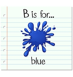 Flashcard letter b is for blue vector